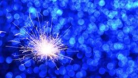 Stella filante e fondo blu del nuovo anno o di Natale archivi video