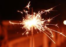 Stella filante reale luminosa Fotografia Stock