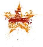 Stella floreale del grunge dell'oro illustrazione vettoriale