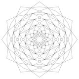 Stella geometrica astrale circolare della mandala del modello in bianco e nero - fondo mistico Fotografia Stock Libera da Diritti