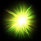 Stella giallo verde d'ardore Fotografia Stock Libera da Diritti