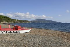 Stella gulf and beach, Elba Royalty Free Stock Photography