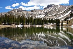 Stella Lake - Great Basin NP. Stella Lake reflects the mountains and sky in Great Basin National Park in Nevada Royalty Free Stock Photo