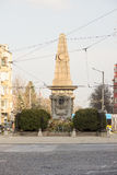 Stella-Levski monument in the center of Sofia, Bulgaria Royalty Free Stock Images