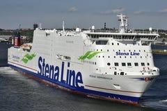 Stena Line Ferry at the Harbor of Kiel, Germany. Stock Photography