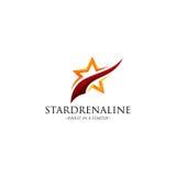 Stella Logo Vector Immagine Stock Libera da Diritti