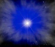 Stella luminosa nella galassia immagine stock libera da diritti