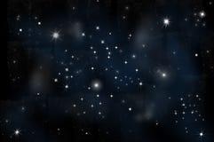 Stella luminosa nello spazio Fotografia Stock