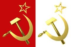 Stella, martello e falce, simboli dell'URSS Immagine Stock