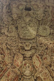 Stella maya découpée, ruines de Copan, Honduras Image stock