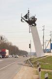 Stella med medlet på huvudvägen A-290 Novorossiysk - Kerch, på ingången till Anapa, på Royaltyfria Foton