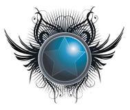 Stella nel cerchio royalty illustrazione gratis