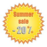 Stella per i prezzi di sconto di estate Fotografie Stock