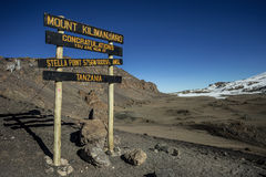 Stella Point (5756m), Kilimanjaro Imagens de Stock Royalty Free