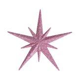Stella rosa di Natale isolata su fondo bianco Fotografia Stock Libera da Diritti