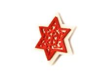 Stella rossa piacevole come elemento della decorazione di natale Fotografia Stock Libera da Diritti