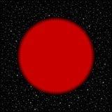 Stella rossa su fondo cosmico illustrazione vettoriale
