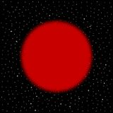 Stella rossa su fondo cosmico royalty illustrazione gratis