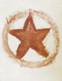 stella rossa verniciata Fotografia Stock