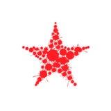 Stella rosso sangue della spruzzata illustrazione di stock