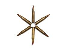 stella Sei-aguzza delle cartucce M16 isolate Fotografia Stock Libera da Diritti