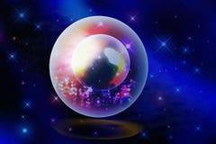 Stella in sfera di cristallo Immagini Stock