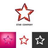 Stella sparsa Logo Set Colorato, in bianco e nero, logo di pendenza Fotografia Stock Libera da Diritti
