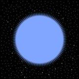 Stella su fondo cosmico illustrazione di stock