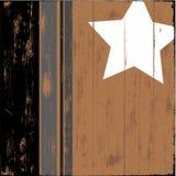 Stella su legno Immagine Stock
