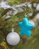 Stella sull'albero di Natale Fotografia Stock