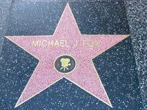Stella sulla passeggiata del boulevard di Hollywood di fama in LA Fotografia Stock