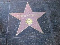 Stella sulla passeggiata del boulevard di Hollywood di fama in LA Fotografia Stock Libera da Diritti
