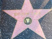 Stella sulla passeggiata del boulevard di Hollywood di fama in LA Fotografie Stock