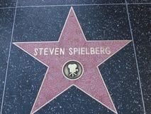 Stella sulla passeggiata del boulevard di Hollywood di fama in LA Fotografie Stock Libere da Diritti