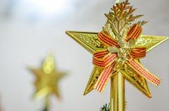 Stella superiore dell'albero di Natale Fotografia Stock