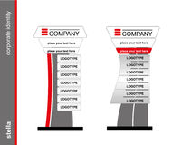 The stella. Template for corporate identity. Blank mockup for design. Stock Photos
