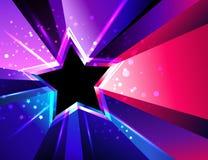 Stella tricolore Priorità bassa astratta con i raggi fotografia stock