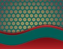 Stella verde della carta di natale con spazio per testo Fotografia Stock