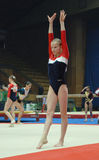 Stella Zakharova Cup. A gymnast executes exercise on competitions on a sporting gymnastics. Chempiont on sporting gymnastics Stella Zakharova Cup in Ukraine Royalty Free Stock Image