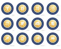 Stellair dierenriemteken - Horoscoop Royalty-vrije Stock Fotografie