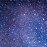 Stellair, Melkweg en Ruimtewaterverf Abstracte Textuur Royalty-vrije Stock Foto