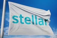 Stellaire XLM-Crypto netwerkuitwisseling royalty-vrije stock foto's