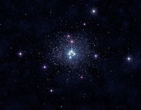 Stellar cluster. A picture of globular cluster containing many sparkling stars royalty free stock image
