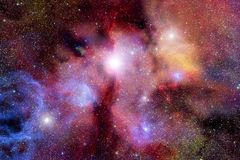 Stellar field with nebulae. Very realistic stellar field with red nebulae Stock Photos