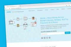 Stellar money transfer platform website homepage stock illustration