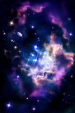 Stellar nurseries - molecular cloud in which the process of star Royalty Free Stock Photo