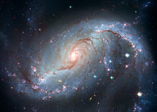 Stellar Nursery NGC 1672. Spiral galaxy in the constellation Dorado Royalty Free Stock Image