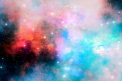 Stellar Relic. Cloud and star remnants after a supernova explosion Royalty Free Stock Photo