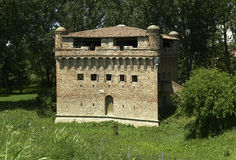 Stellata. Di Bondeno (Fe), Italy, the Fortress Estense ,edificated in the eleventh century with addition in the fourthenth and sixtenth century Royalty Free Stock Photo