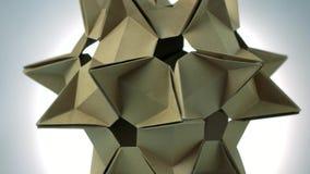 Stellated尖刻的origami形象 向量例证